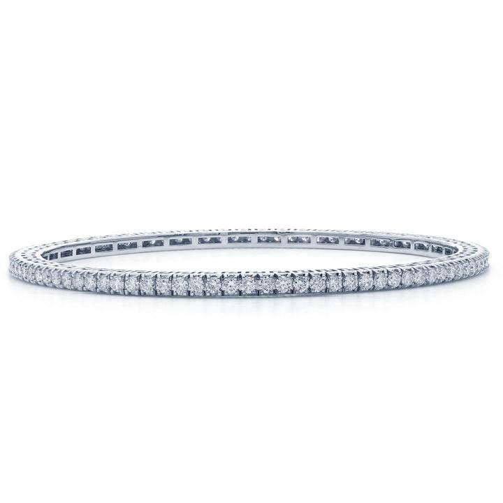3 1/4 Ct. T.W. Lab-Grown Diamond 18K White Gold Bangle