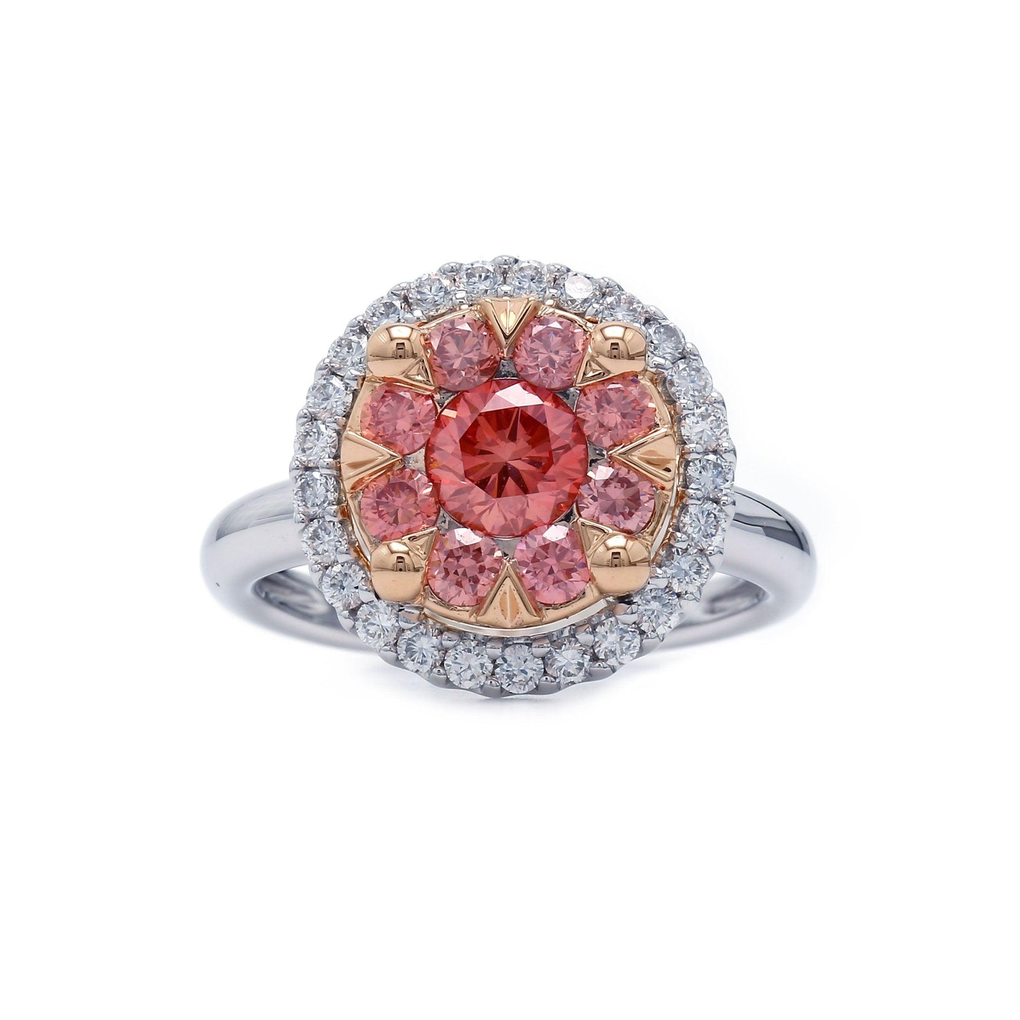 1 1/2 Ct. T.W. Lab-Grown Pink And White Diamond 14K Gold Ring