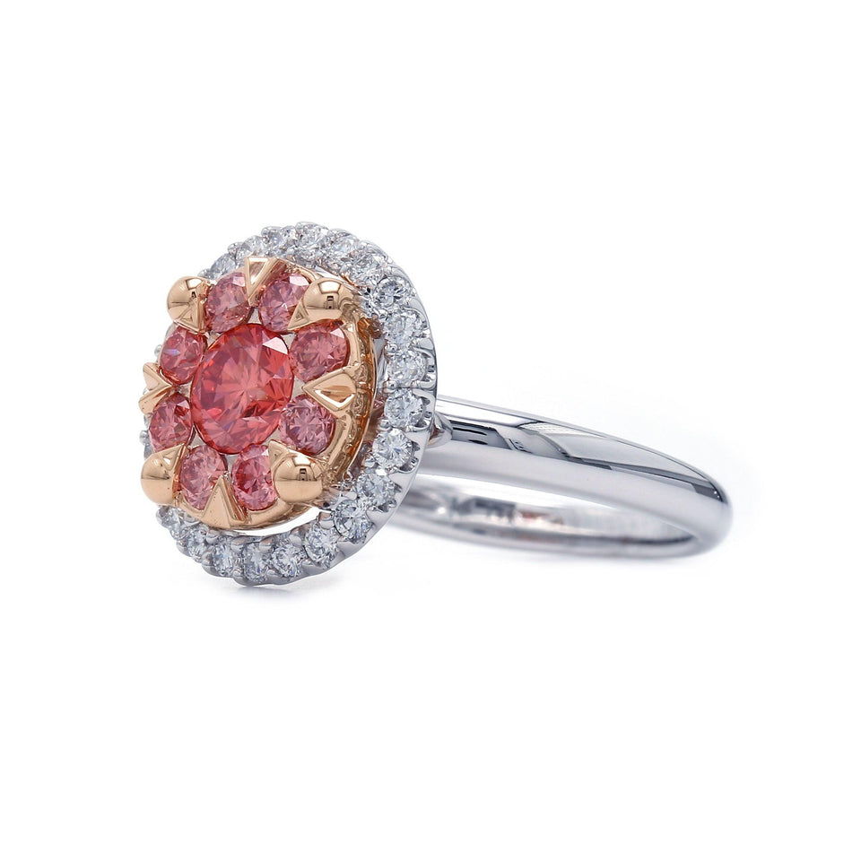 1 1/2 Ct. T.W. Lab Grown Pink And White Diamond 14K Gold Ring