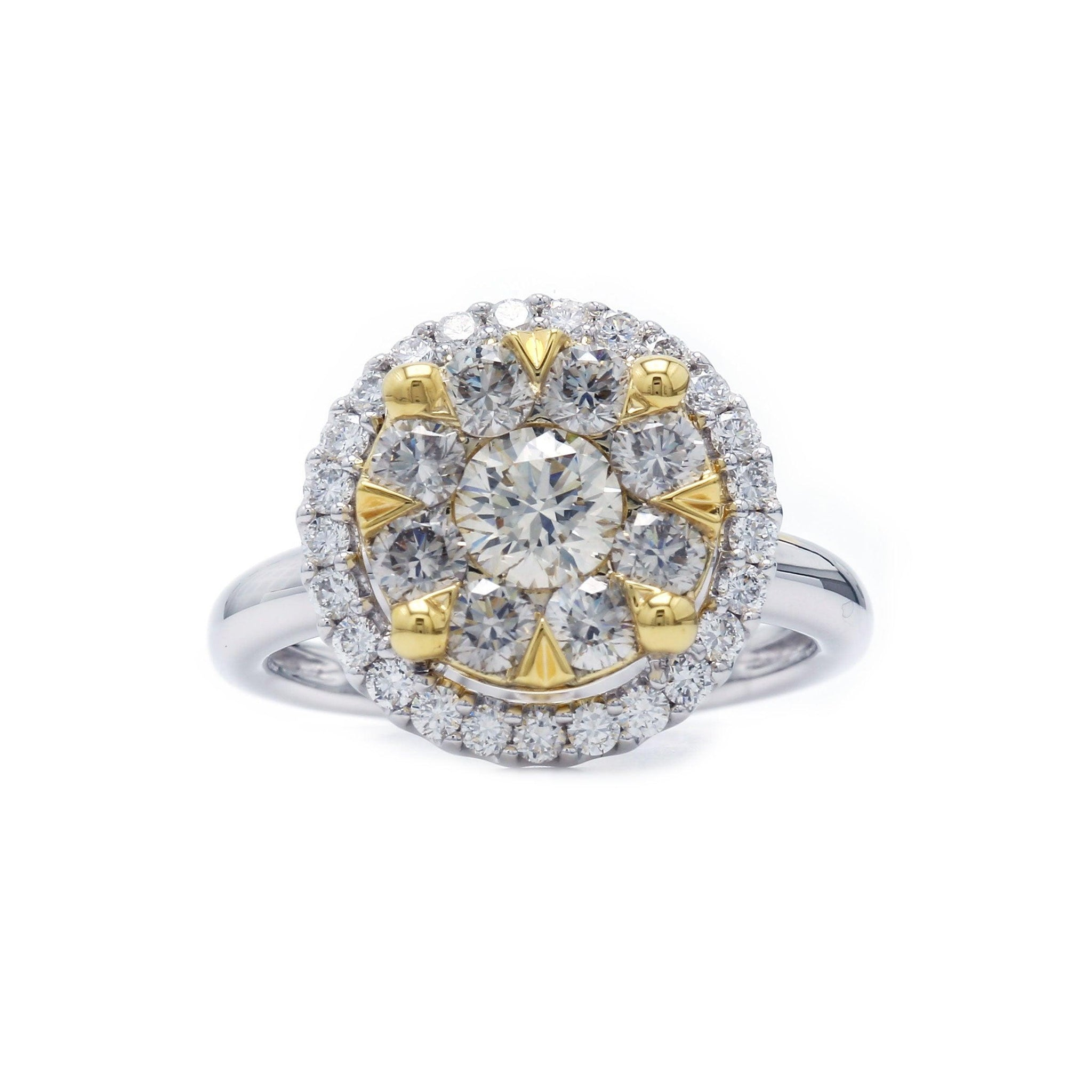 1 1/2 Ct. T.W. Lab-Grown Smoky And White Diamond 14K Gold Ring