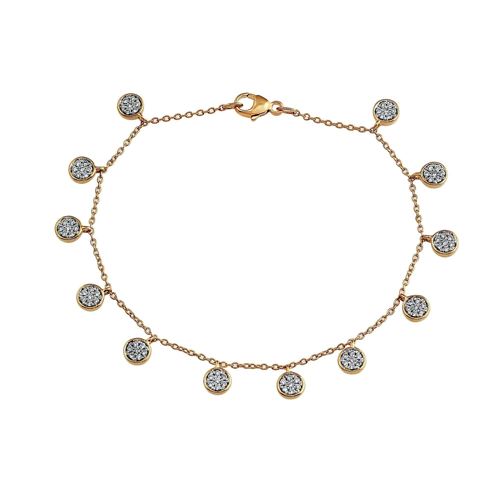 Nuri & Ash Blaze Diamond Dangle Bracelet - 14k Gold Over Sterling Silver