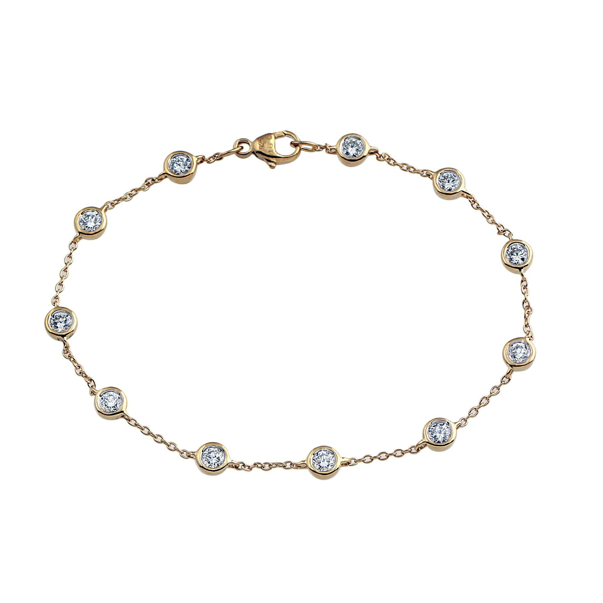 Nuri & Ash Phoenix Diamond Station Bracelet - 14k Gold Over Sterling Silver