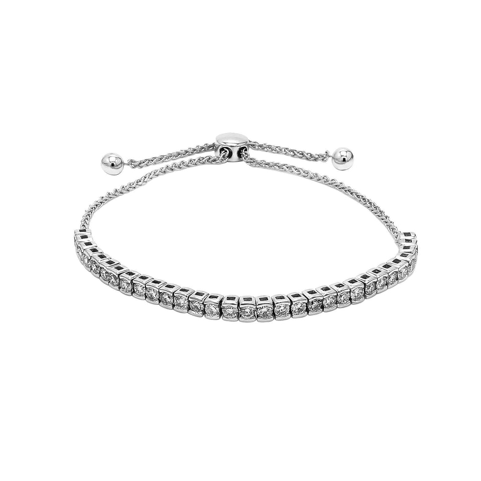 2.00 Ct. T.W. White Lab-Grown Diamond 14K White Gold Bracelet