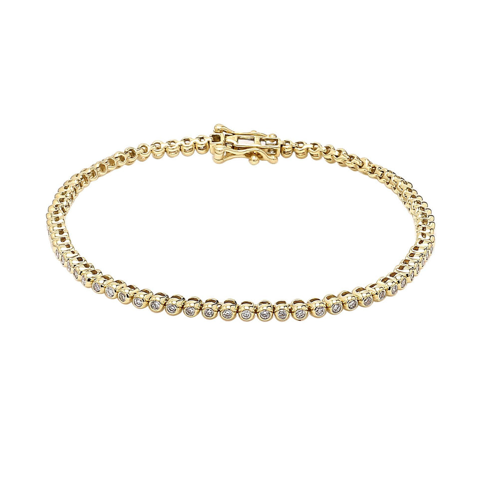 1.00 Ct. T.W. White Lab Grown Diamond 14K Gold Bracelet
