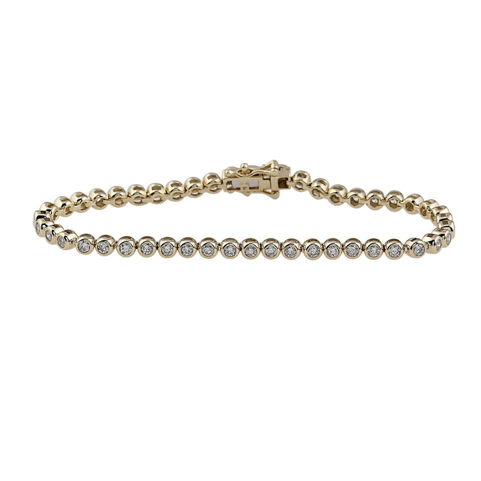 3.00 Ct. T.W. White Diamond 14K Gold Bracelet