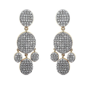 Nuri & Ash Blaze Diamond Chandelier Earrings - 14k Gold Over Sterling Silver