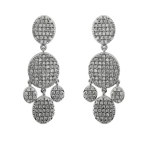 Nuri & Ash Blaze Diamond Chandelier Earrings -Sterling Silver