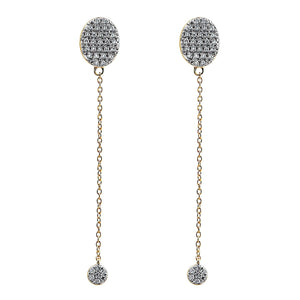 Nuri & Ash Blaze Diamond Long Drop Earrings - 14k Gold Over Sterling Silver