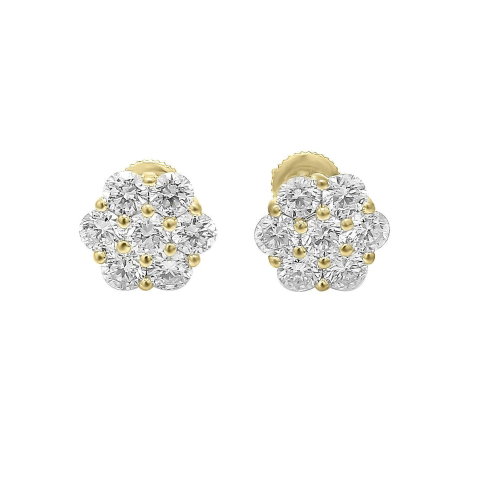 2 1/2 Ct. T.W. Lab-Grown Diamond Flower 14K Gold Set