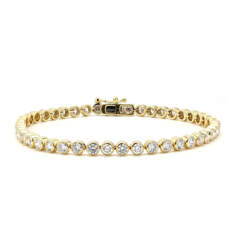 5.00 Ct. T.W. White Diamond 14K Yellow Gold Bracelet