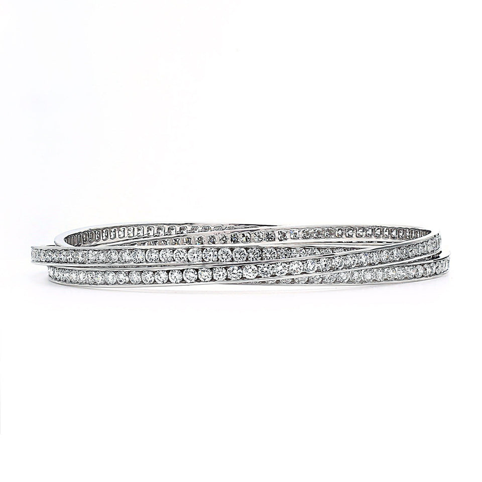 Lab-Grown Diamond 14K White Gold Bangle