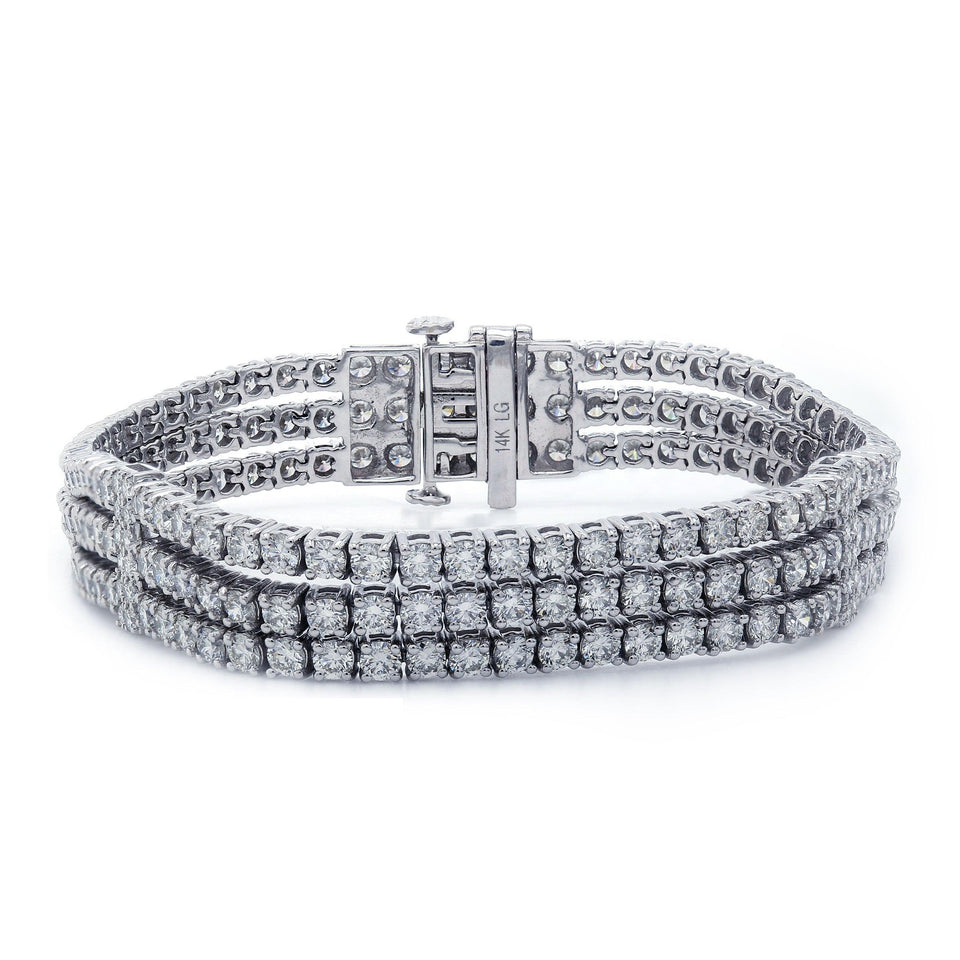13.00 Ct. T.W. Lab-Grown Diamond 14K White Gold Bracelet