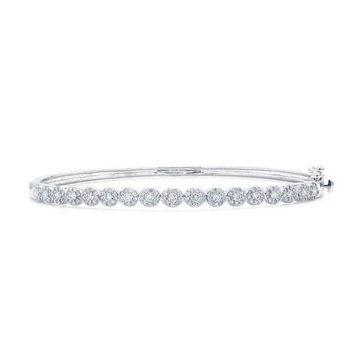 1.00 Ct. T.W. White Lab-Grown Diamond 14K White Gold Bangle