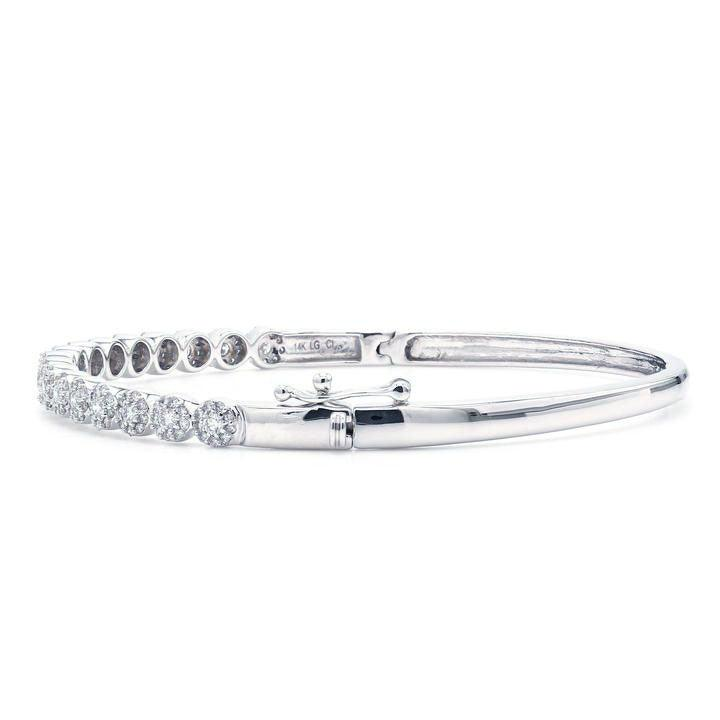 1.00 Ct. T.W. White Lab-Grown Diamond Bangle