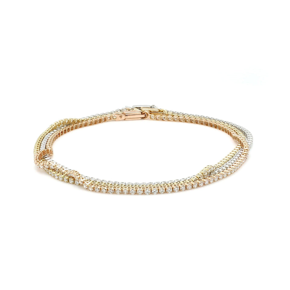 1 1/2 Ct. T.W. White Lab-Grown Diamond 14K Gold Stackable Bracelet
