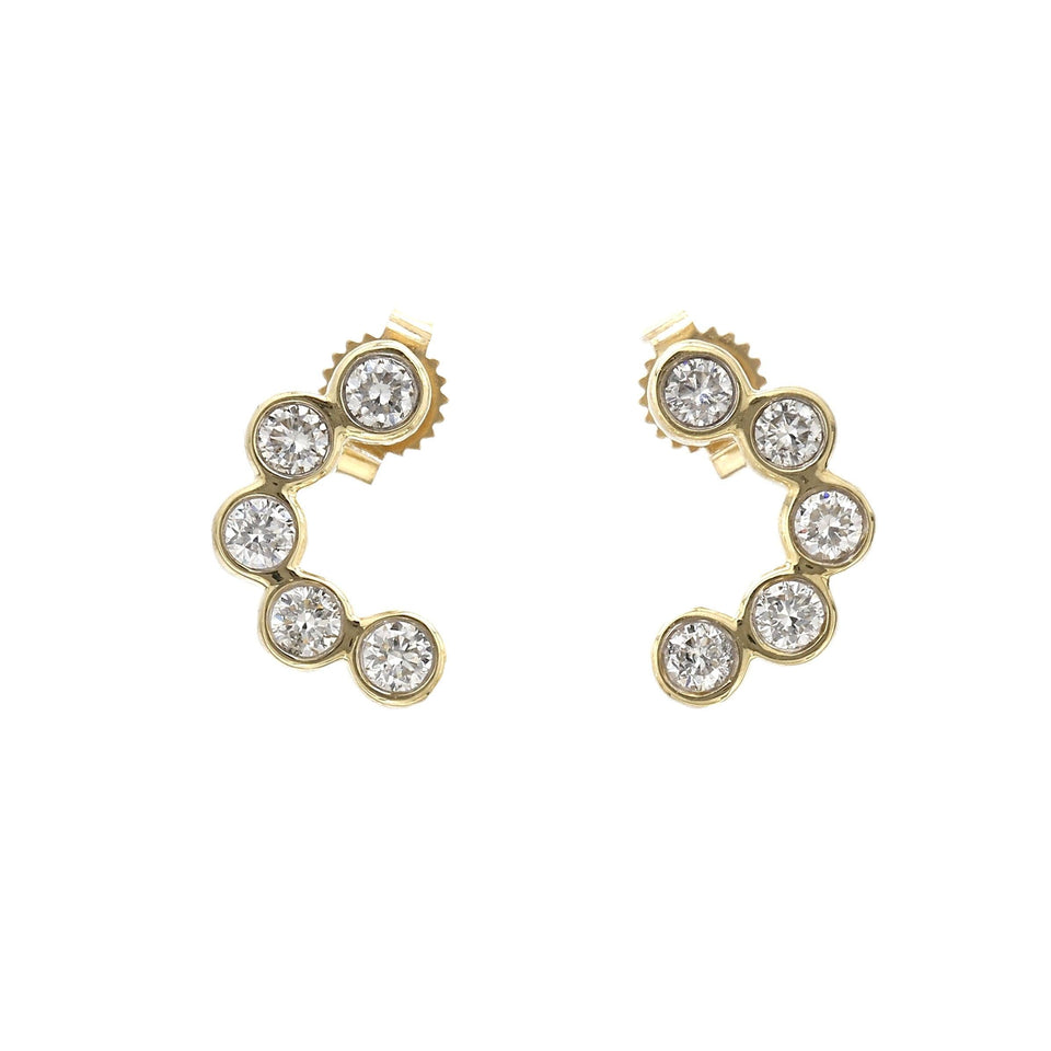1/2 Ct. T.W. Lab-Grown Diamond Earrings 14K Yellow Gold