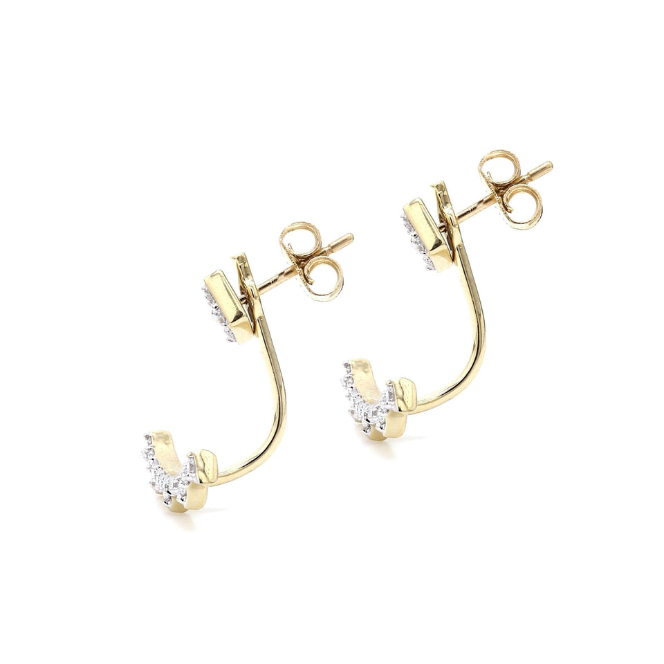 1/2 Ct. T.W. Lab-Grown Diamond Earrings 14K Yellow Gold Lab-Grown