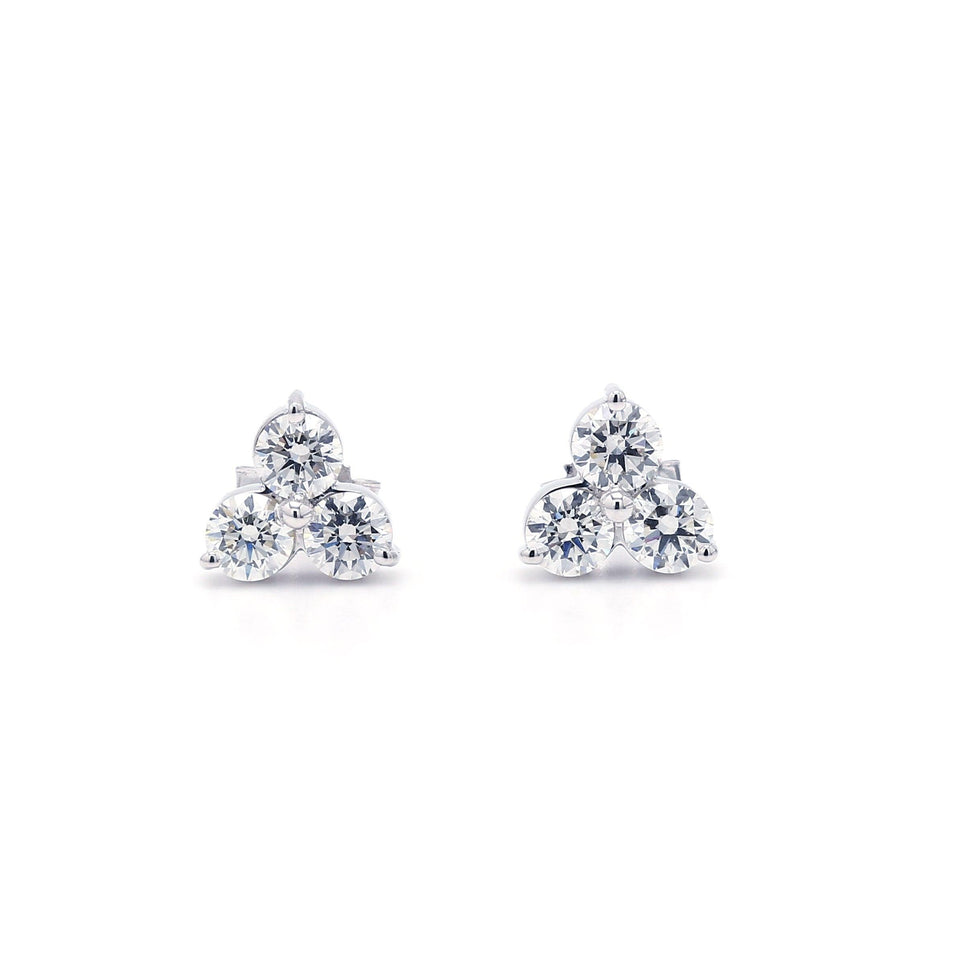 1.00 Ct. T.W. Lab-Grown Diamond Earrings 14K White Gold Lab-Grown