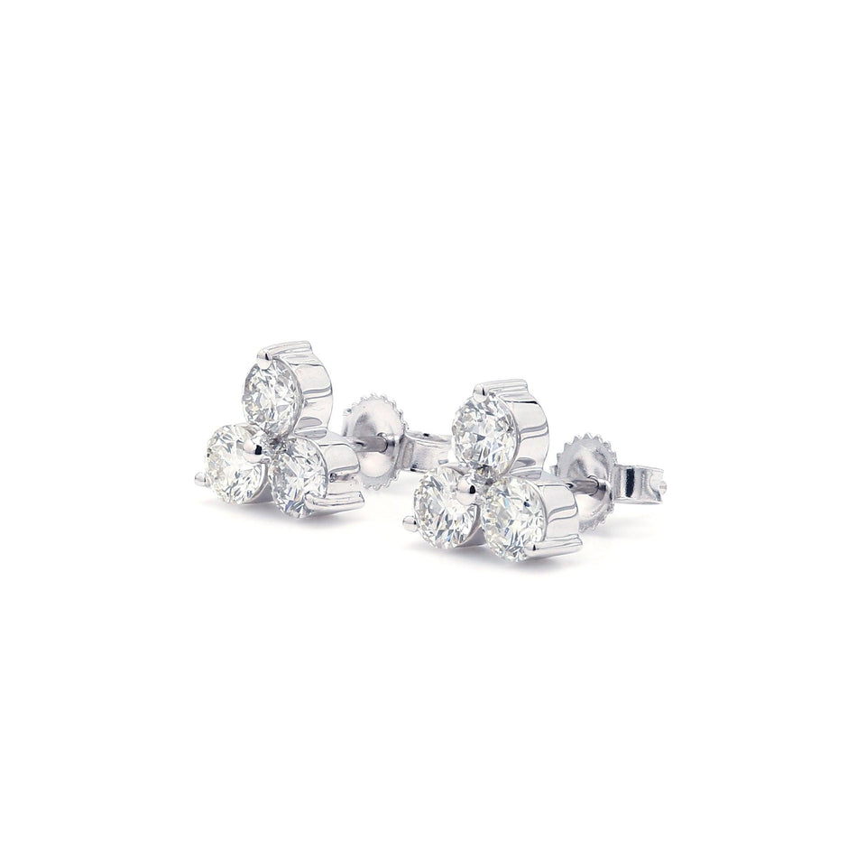1.00 Ct. T.W. Lab-Grown Diamond Earrings 14K White Gold