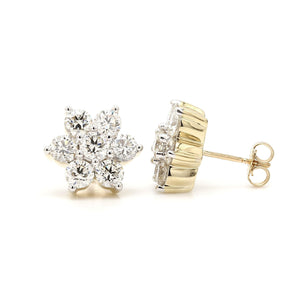 3.00 Ct. T.W. Lab-Grown Diamond Earrings 14K Yellow Gold