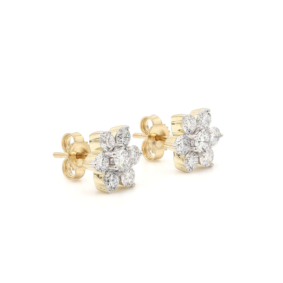 1.00 Ct. T.W. Lab-Grown Diamond Earrings 14K Gold