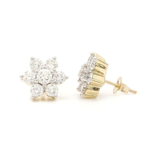 2.00 Ct. T.W. Lab-Grown Diamond Earrings 14K Yellow Gold