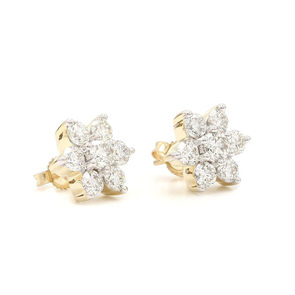 2.00 Ct. T.W. Lab-Grown Diamond Earrings 14K Gold