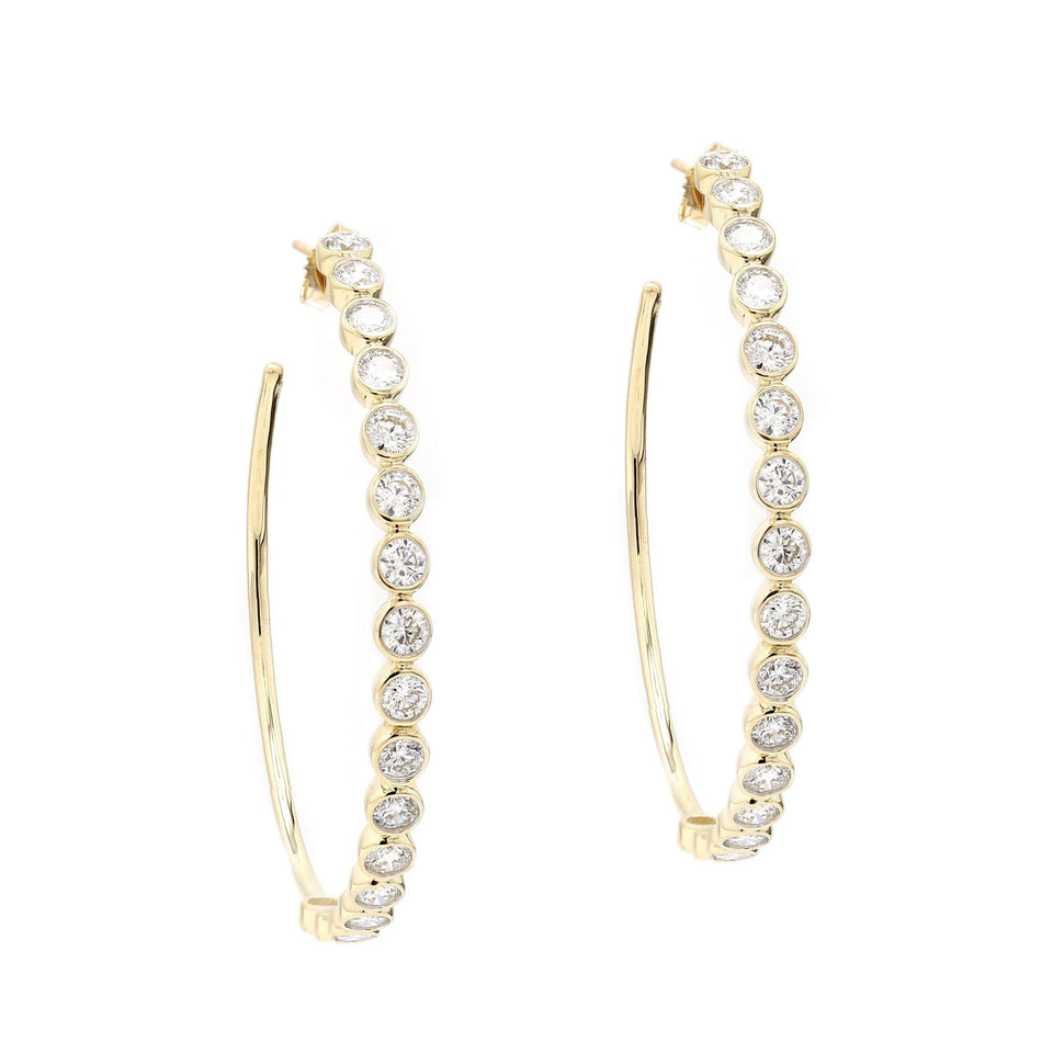 4.00 Ct. T.W. Lab-Grown Diamond Hoops 14K Yellow Gold Lab-Grown