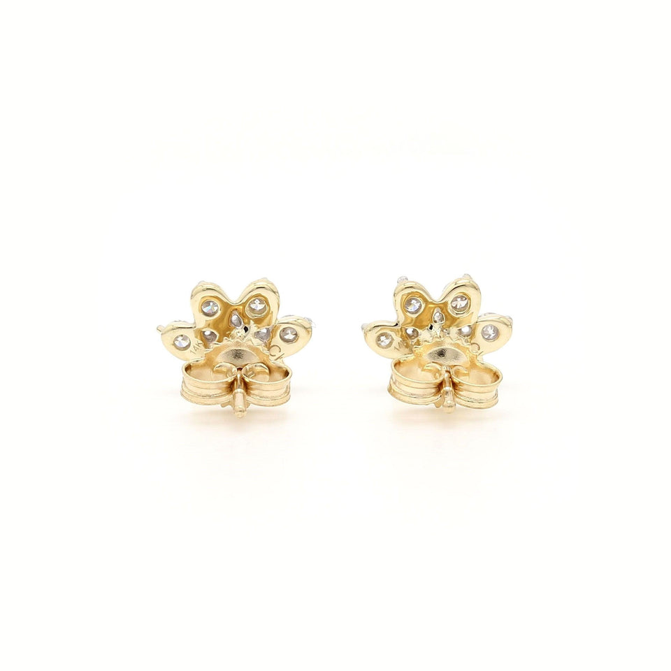 1/4 Ct. T.W. Lab-Grown Diamond Earrings puppy prints