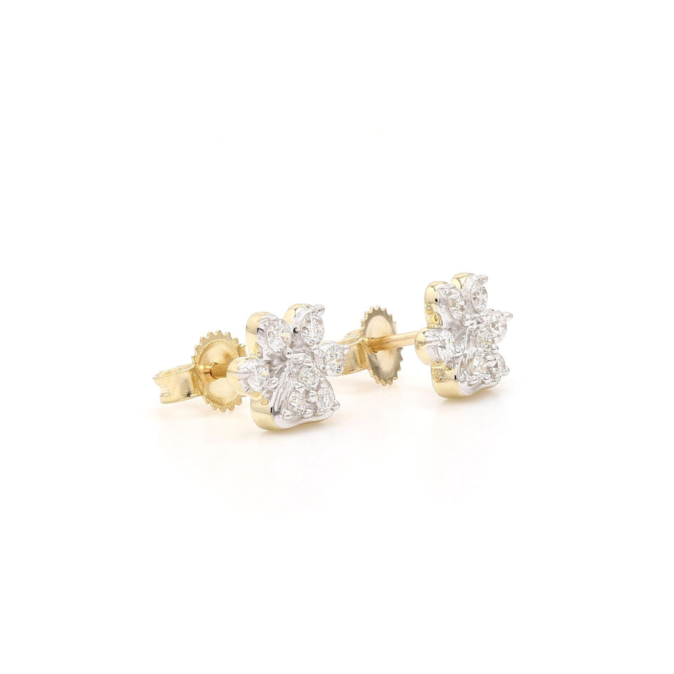 1/4 Ct. T.W. Lab-Grown Diamond Earrings 14K Yellow Gold