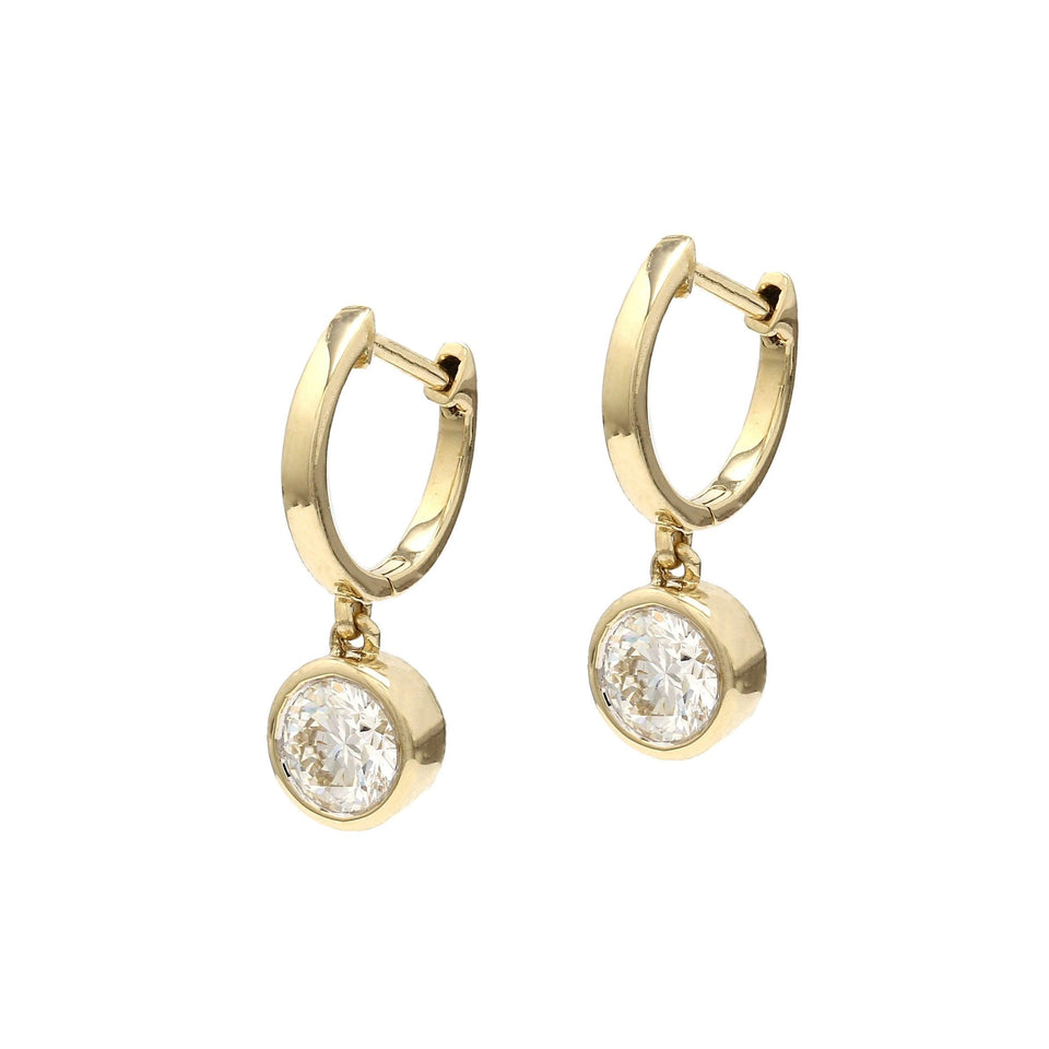1 1/4 Carat total weight Lab-Grown Diamond Huggie Earrings