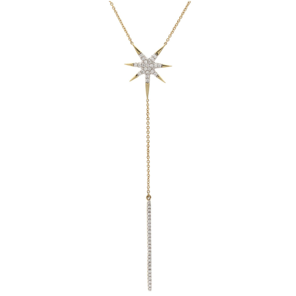 1/4 Ct. T.W. Lab-Grown Diamond Starburst 14K Yellow Gold Necklace