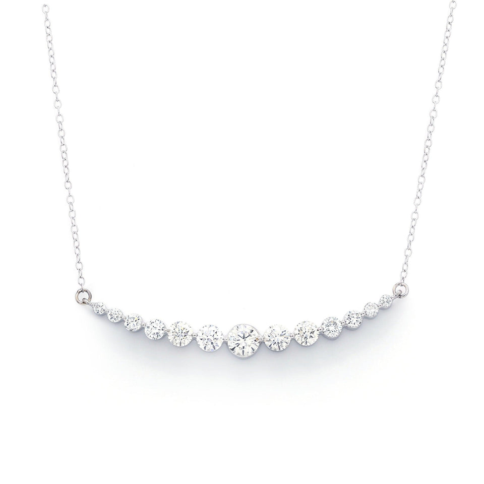 2.00 Ct. T.W. Lab Grown Diamond 14K White Gold Necklace