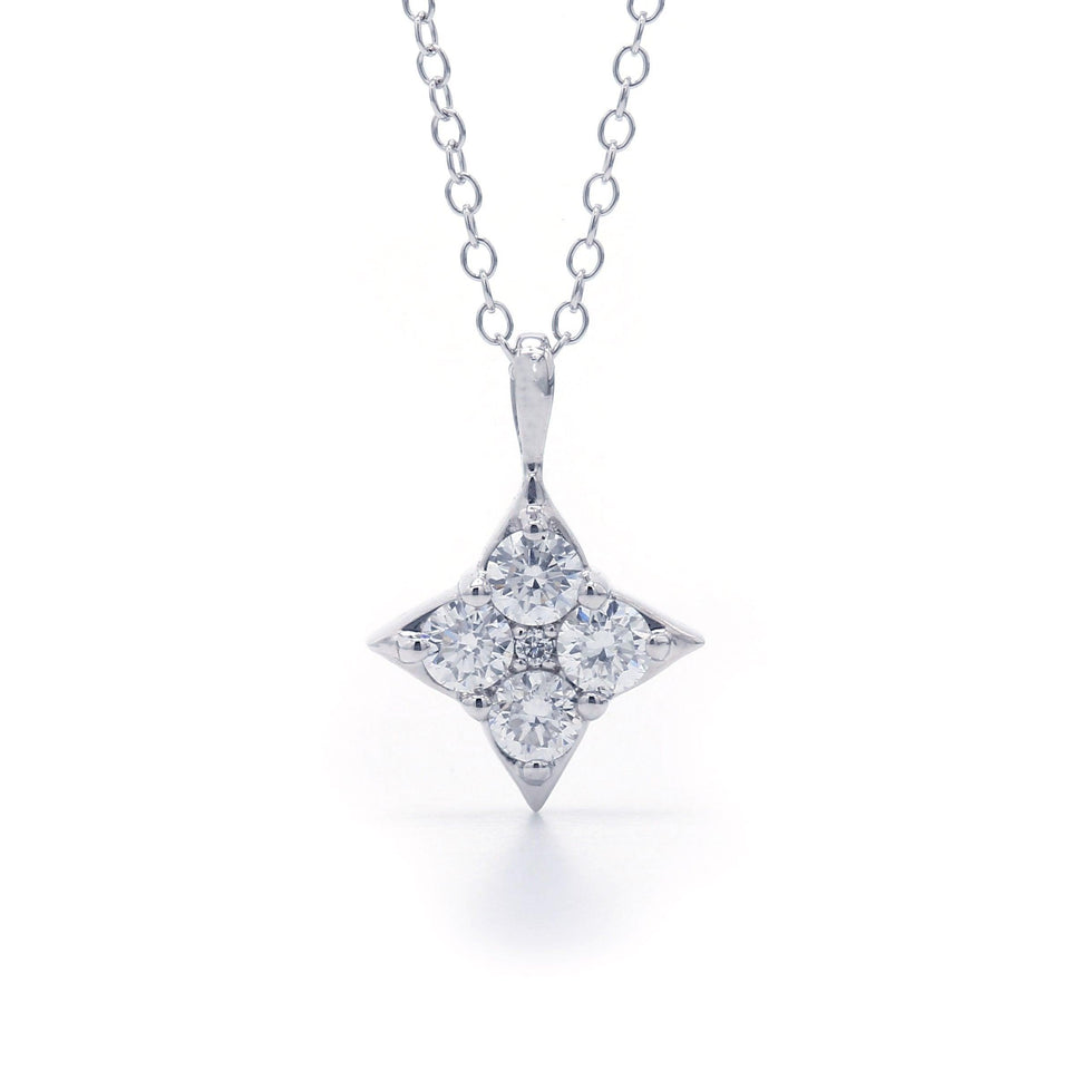 1/2 Ct. T.W. Lab Grown Diamond 14K White Gold Pendant