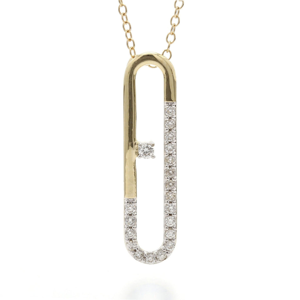 1/5 Ct. T.W. Lab Grown Diamond 14K Yellow Gold Pendant
