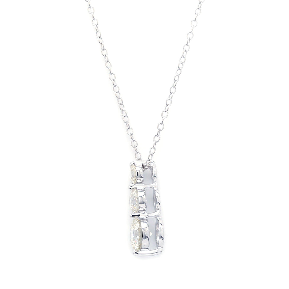 1.50 Ct. T.W. Lab Grown Diamond 14K White Gold Pendant
