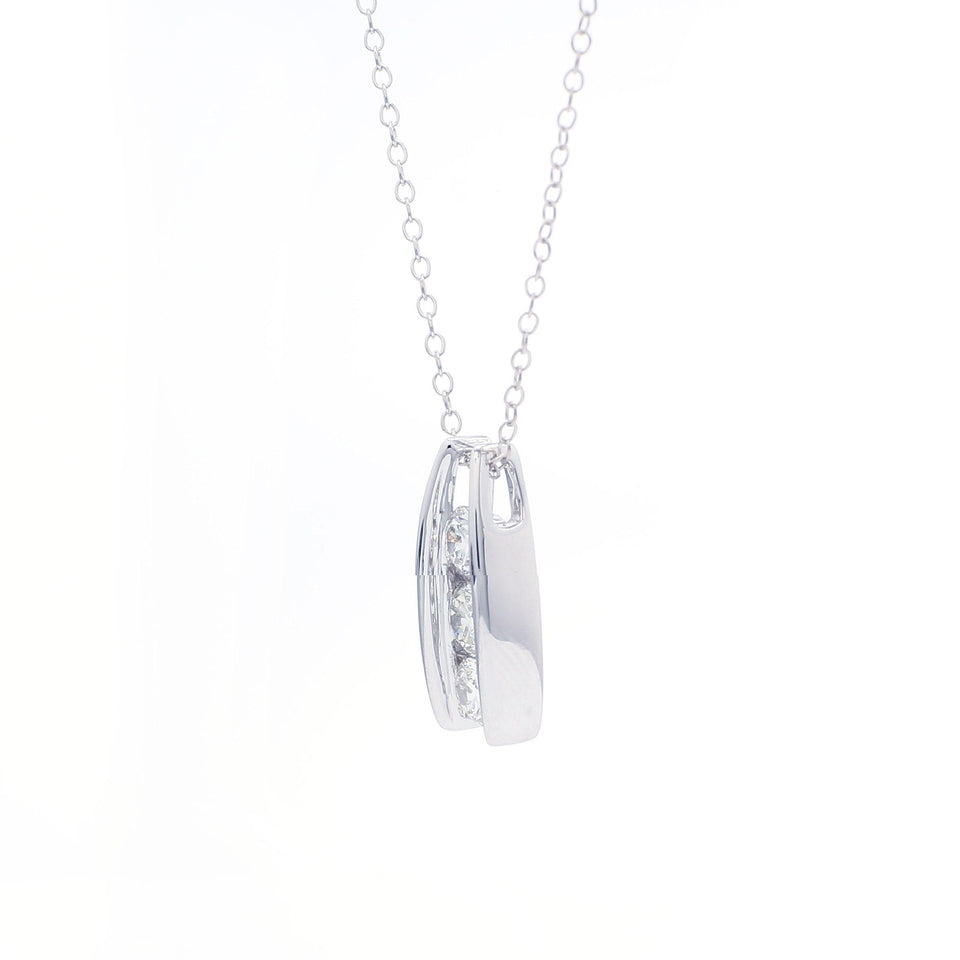 1.00 Ct. T.W. Lab Grown Diamond 14K White Gold Pendant