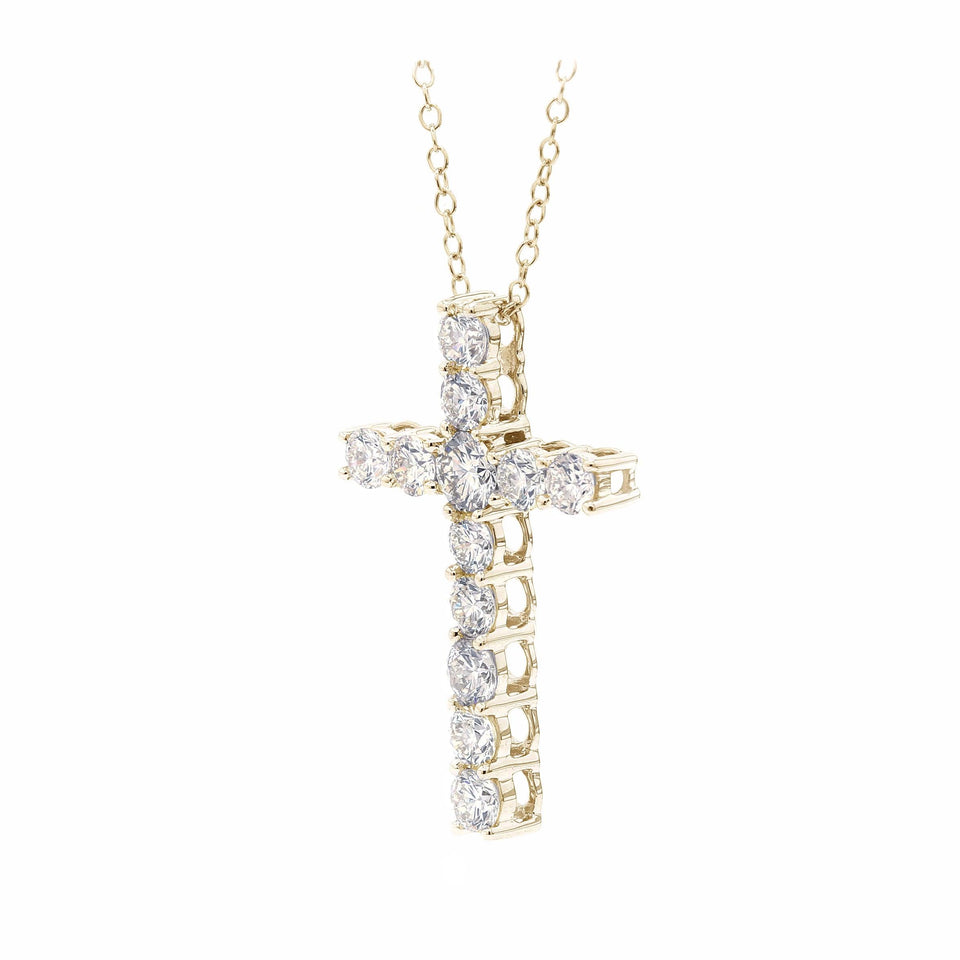 2.00 Ct. T.W. Lab Grown Diamond 14K White Gold Cross Pendant