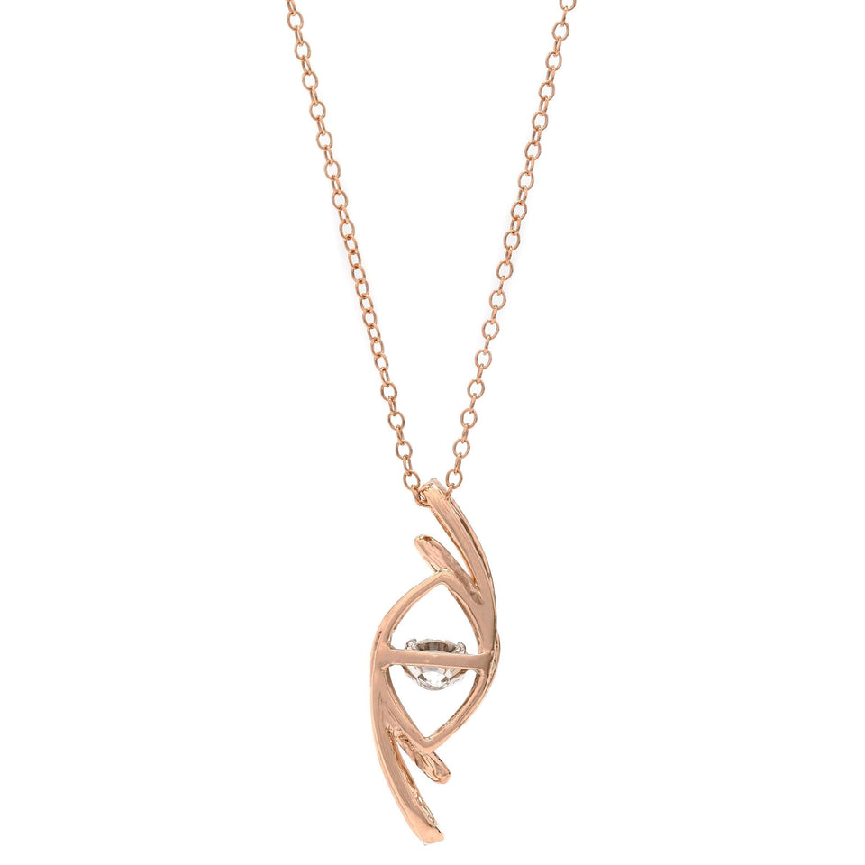 3/4 Ct. T.W. Lab Grown Diamond 14K Rose Gold Pendant