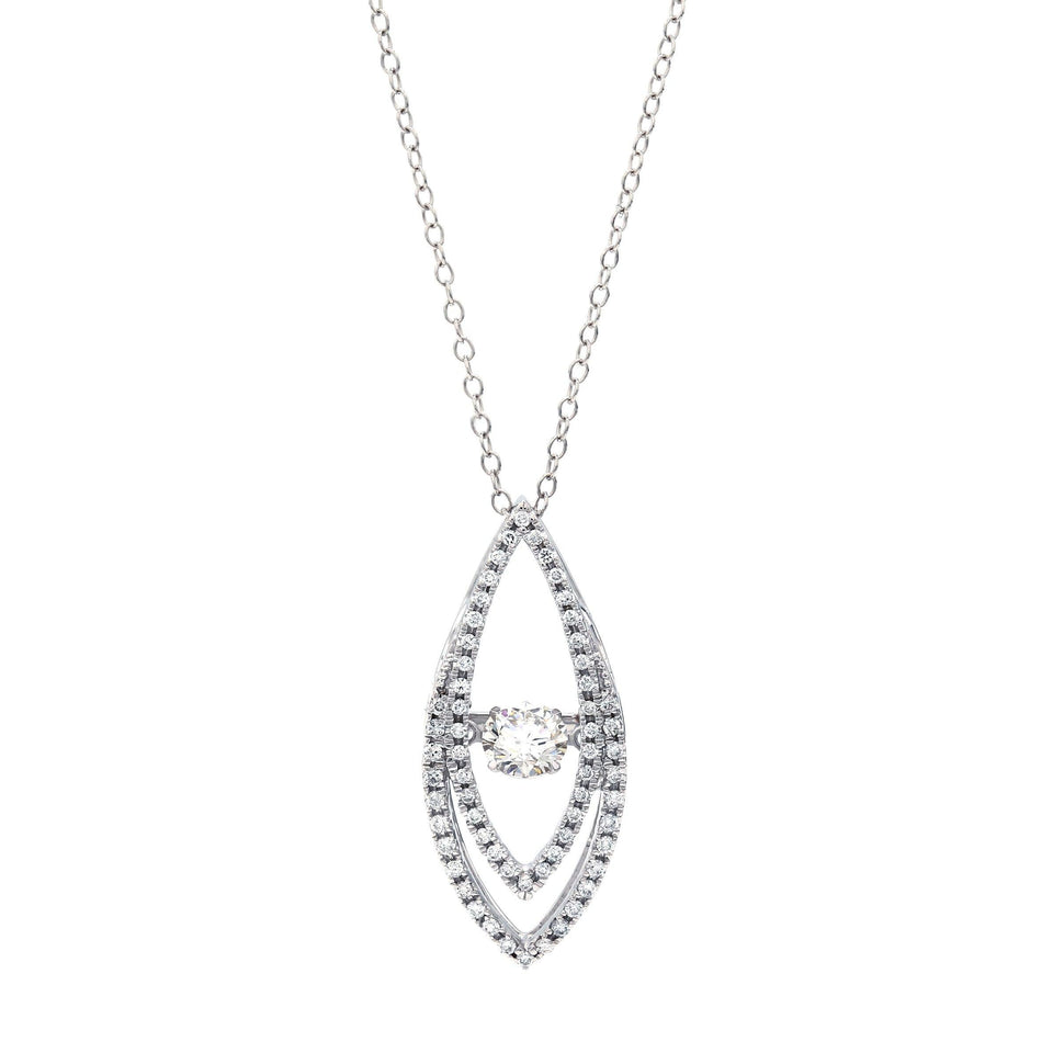 3/4 Ct. T.W. Lab Grown Diamond 14K White Gold Pendant