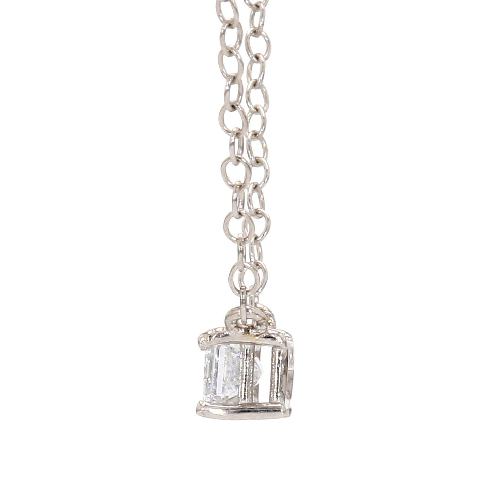 1/3 Ct. White Lab Grown Diamond Emerald Cut Solitaire 14K White Gold Pendant