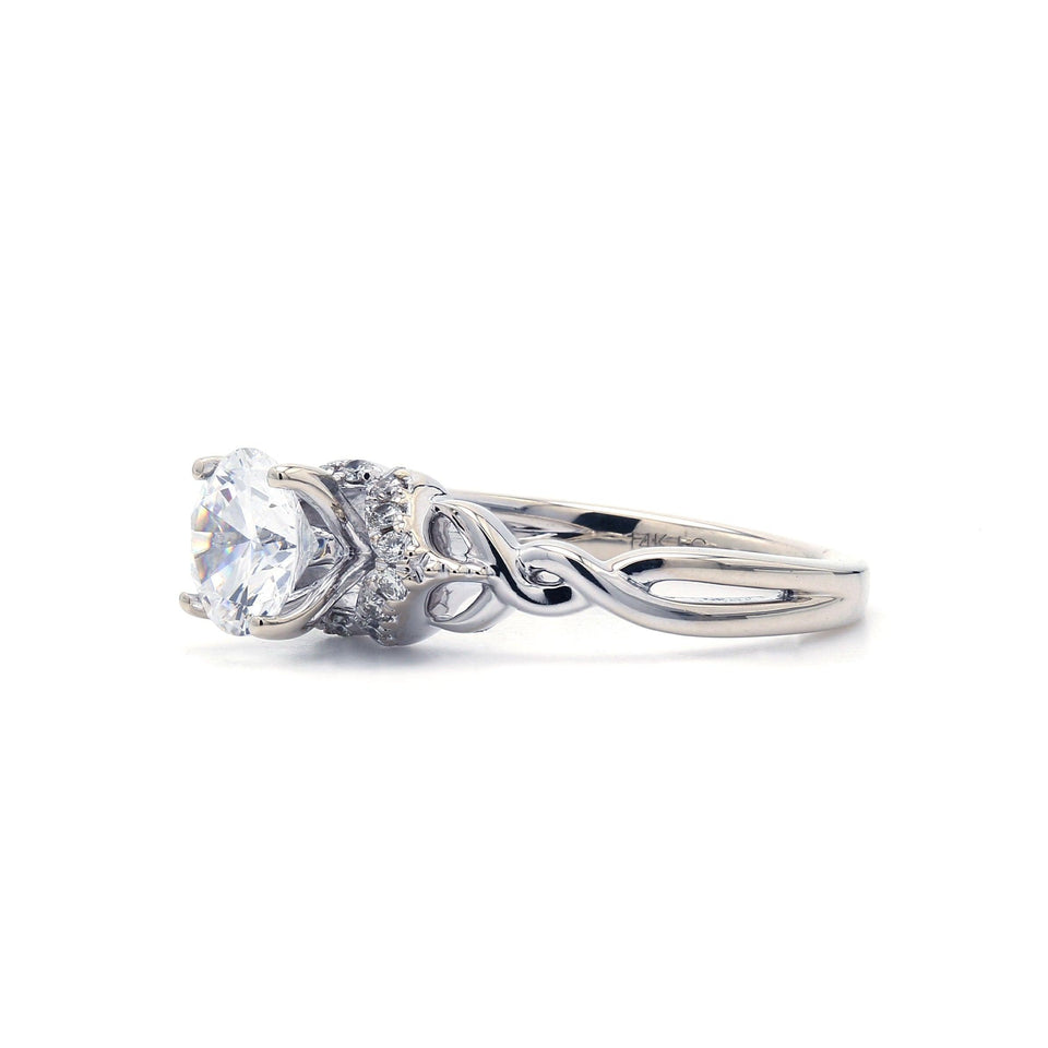 1/8 Ct. T.W. Lab-Grown Diamond 14K White Gold Engagement Ring