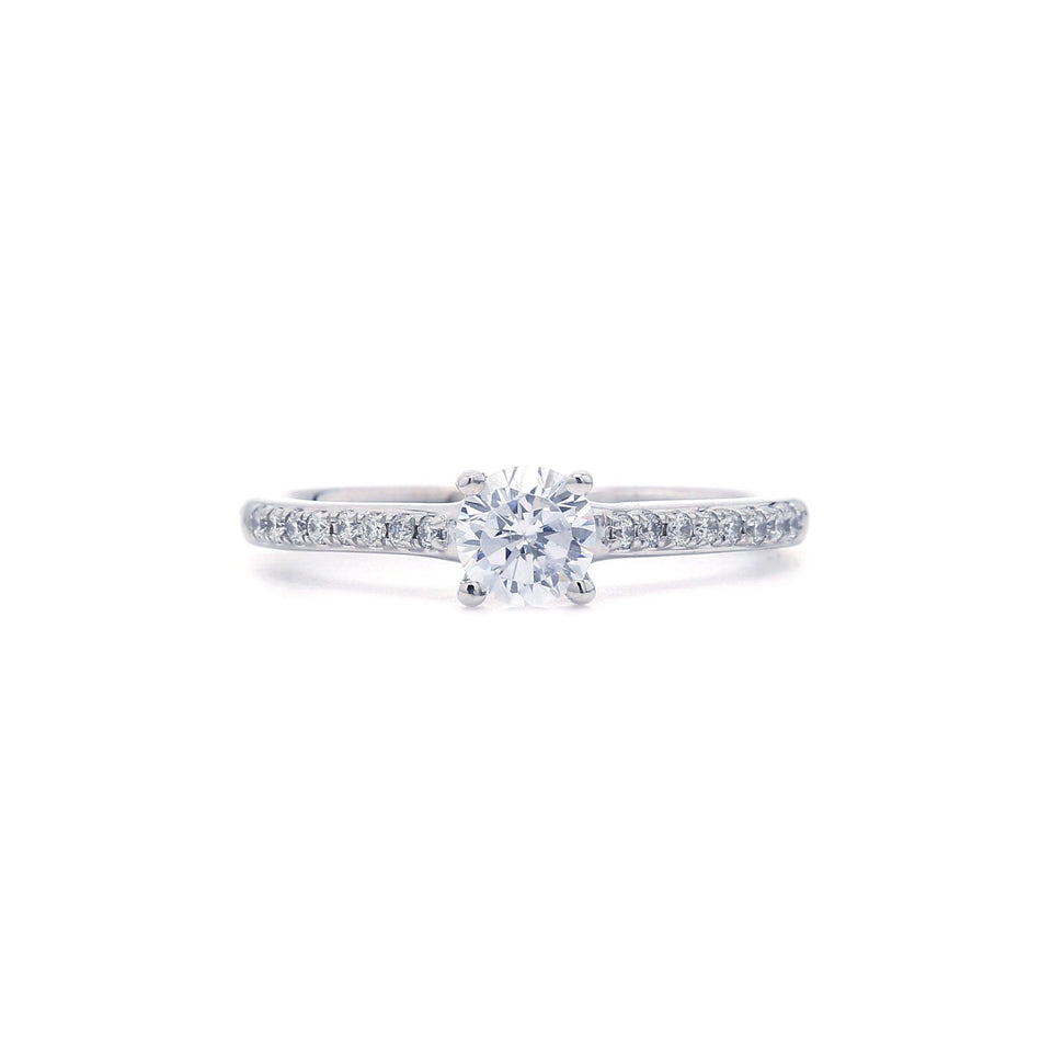 1/7 Ct. T.W. Lab-Grown Diamond 14K White Gold engagement ring