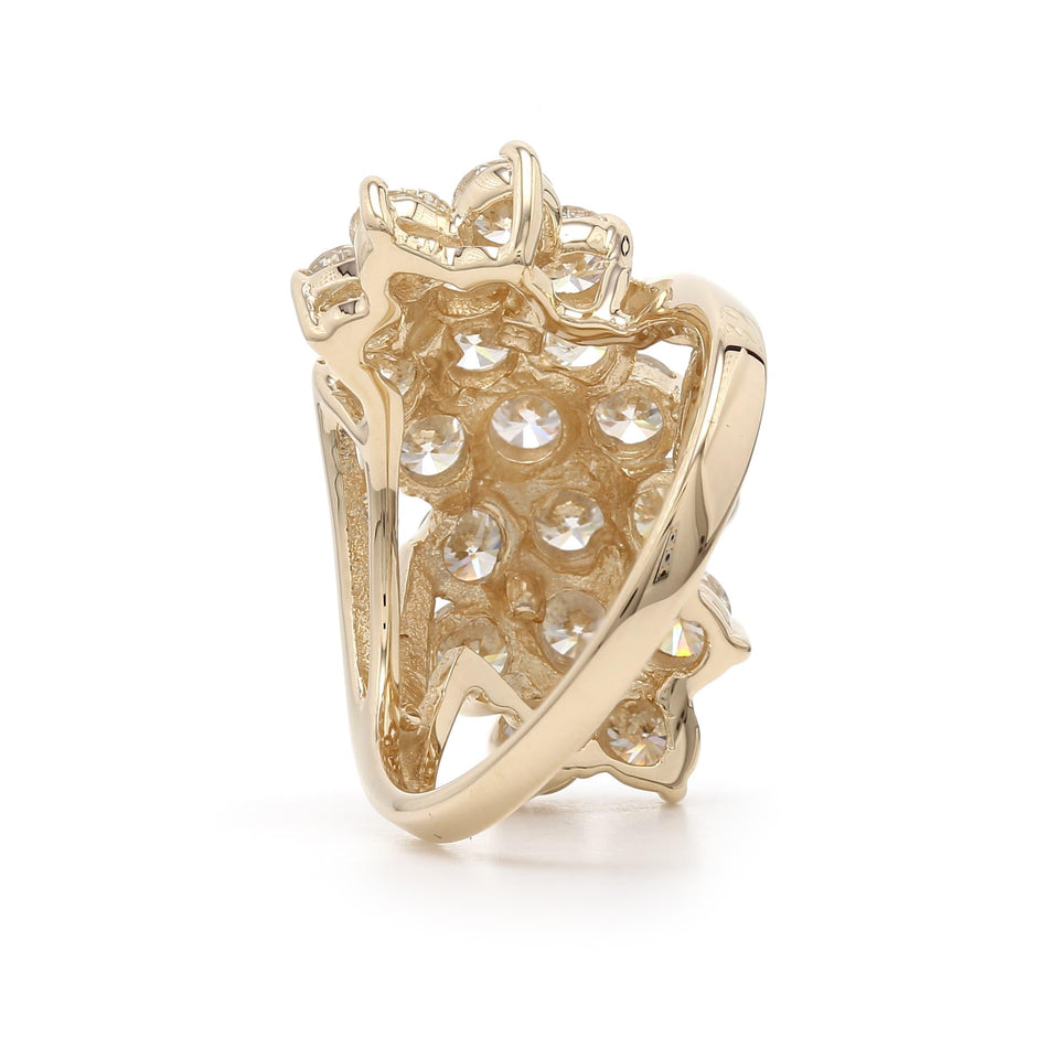 3.00 Ct. T.W. Lab-Grown Diamond Cluster Ring 14K Yellow Gold
