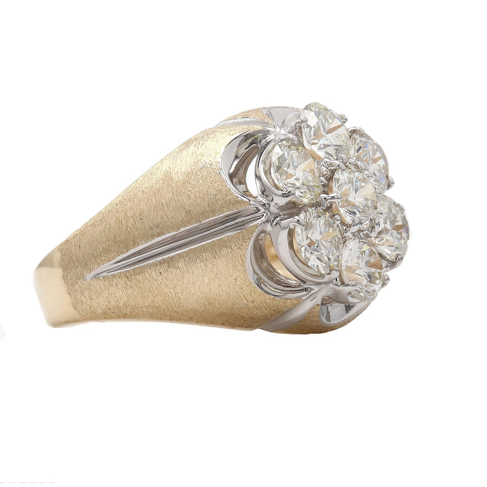3.00 Ct. T.W. Lab Grown Diamond Men's Ring 14K Yellow Gold