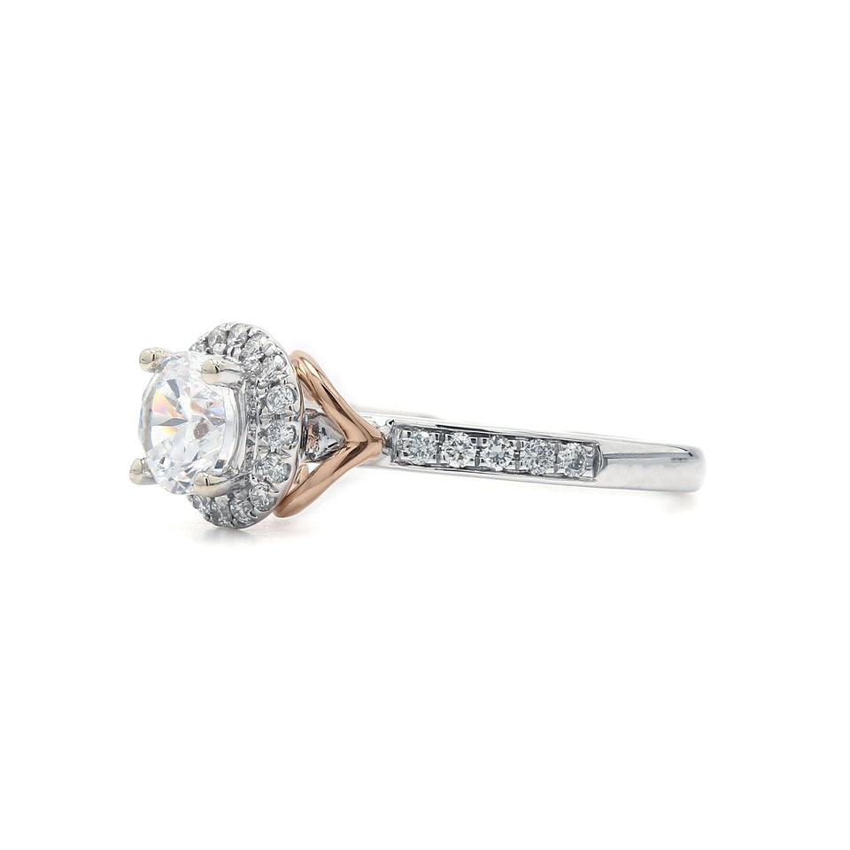 1/4 Ct. T.W. Lab Grown Diamond 14K White And Rose Gold