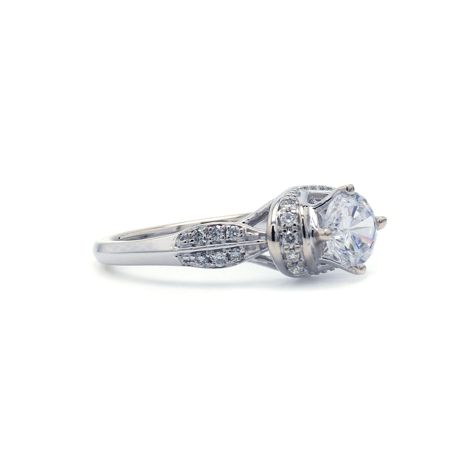 1/5 Ct. T.W. Lab-Grown Diamond 14K White Gold Engagement Ring