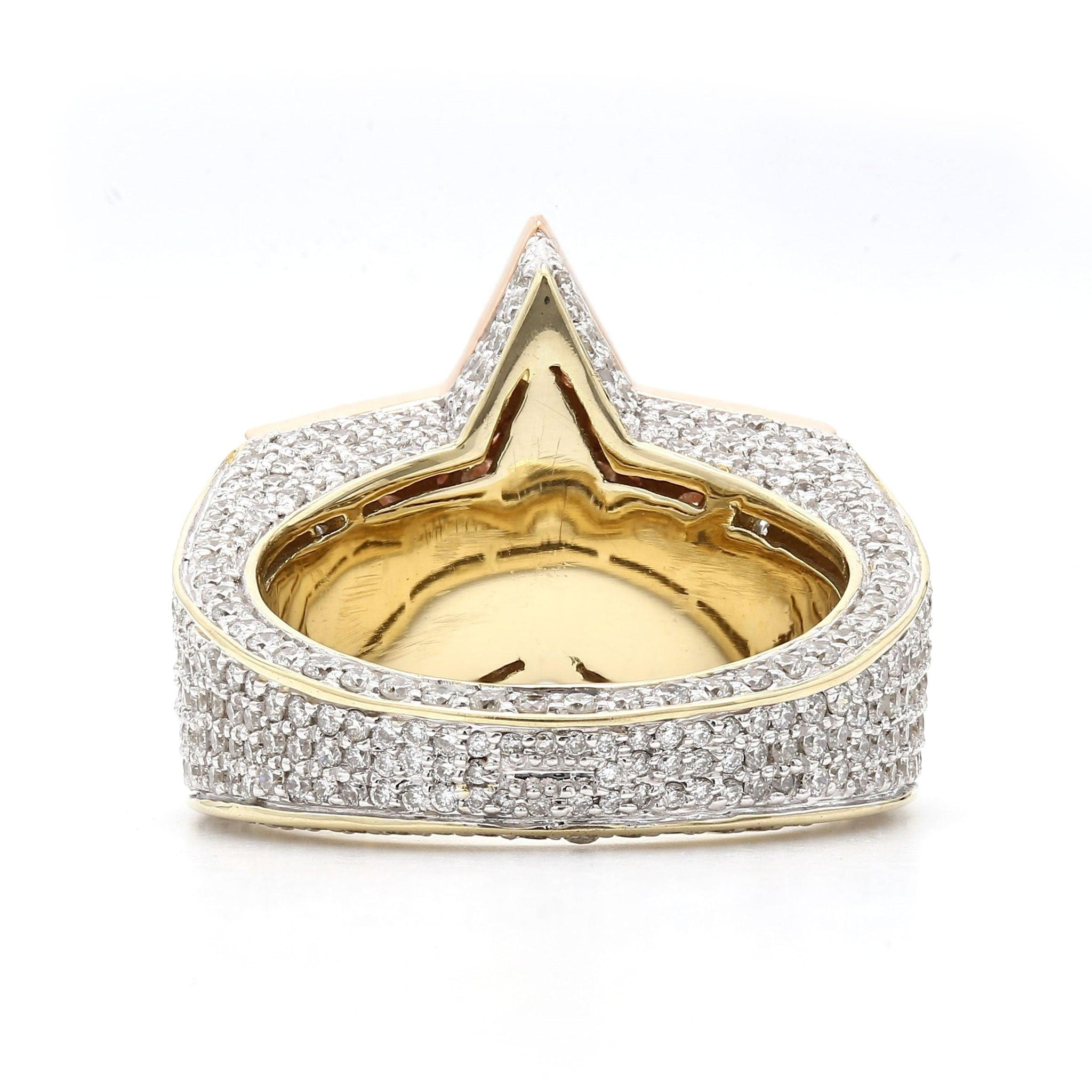 4 1/5 Ct. T.W. Lab-Grown Diamond Ring 14K Two Tone Gold