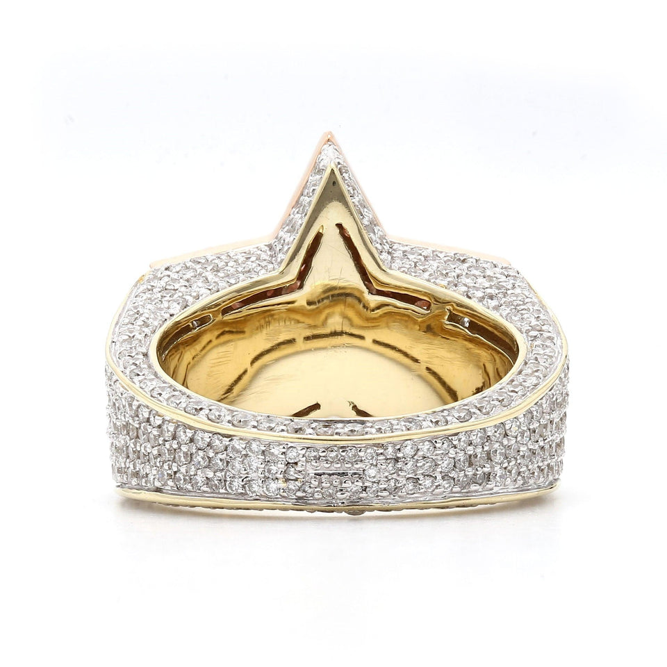 4 1/5 Ct. T.W. Lab Grown Diamond Ring 14K Two Tone Gold