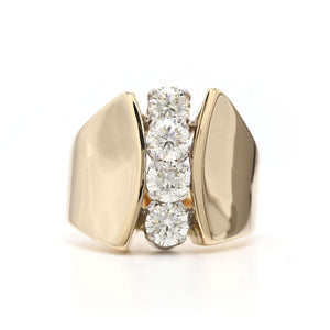 1 1/10 Ct. T.W. Lab-Grown Diamond Ring 14K Yellow Gold